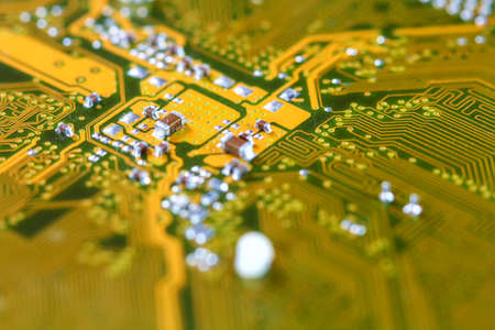 transistor: placa de circuito electrónico Primer sucio.