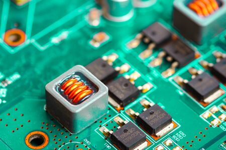 Primer fondo de placa de circuito electrónico.