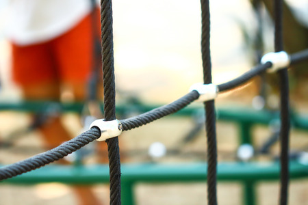 Rope , the joints in the playground .