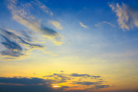 atmosfera: The atmosphere of the sky at sunset