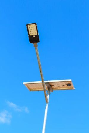 Solar powered street light. rural roads.