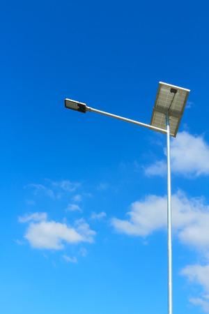 rural roads: Solar powered street light. rural roads.