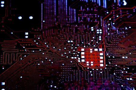 transistor: Closeup electronic circuit board background. Computer hardware.