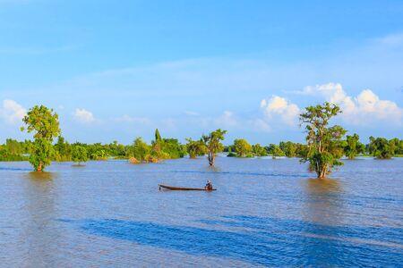 Flooding agricultural area, Roi Et, Thailand.