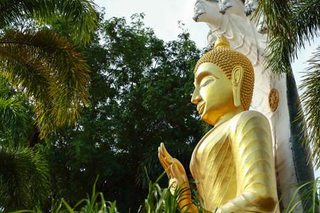 Buddha statue. Wattumkuhasawan Ubonratchathani Thailand.