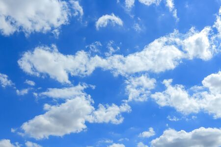 Beautiful blue sky with clouds background.
