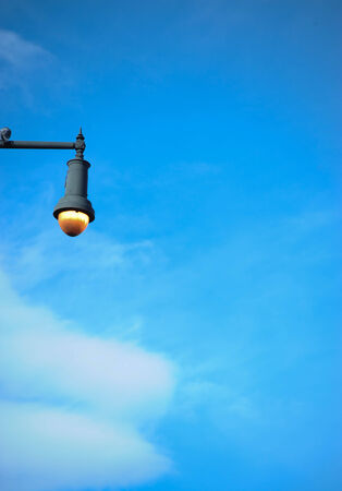 Streetlamp in blue sky