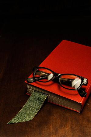 Red Book on Desk Imagens