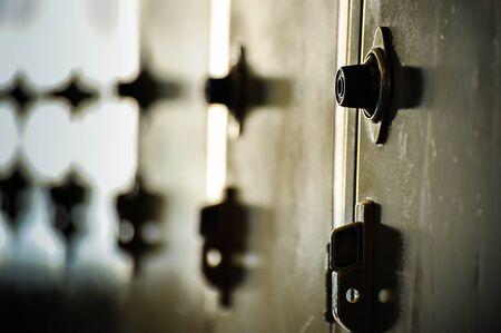 Series of locker combination 版權商用圖片