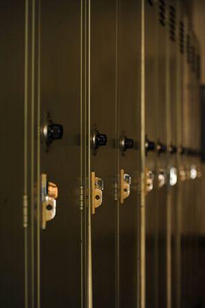 series of school lockers