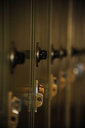 Series of school lockers 版權商用圖片