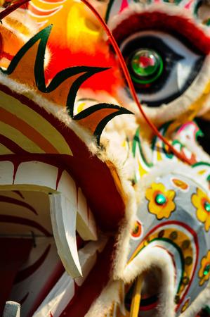 Close-up van Chinese Draak Stockfoto