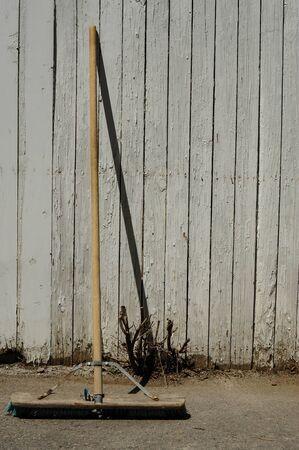 Broom aginst wall