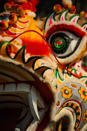 Closeup of dragon