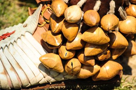 Closeup of ritual shoe