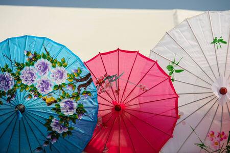 Series of Parasols Stock Photo