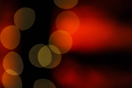 Bokeh with red background