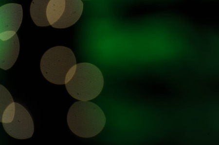 Bokeh with green background