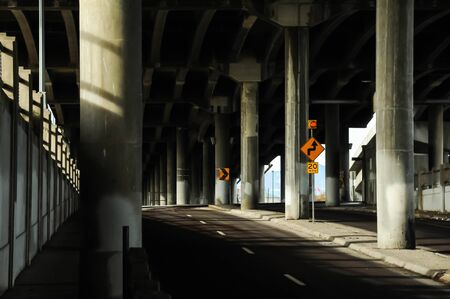 Underpass in morning light photo