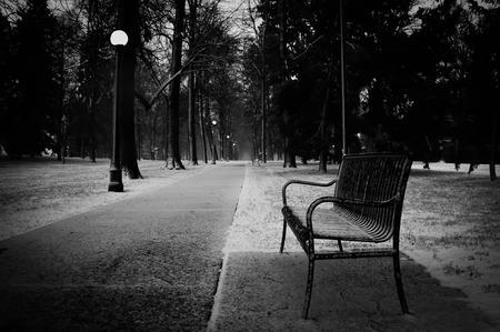 Park bench in winter II Imagens