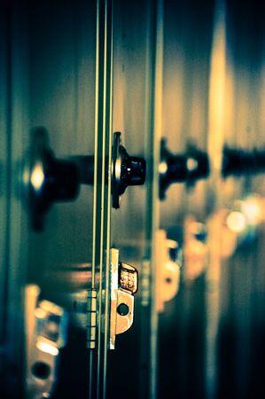 School lockers in blue