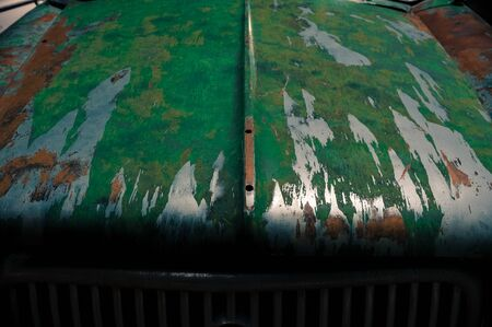 jalopy: Hood of Old Car