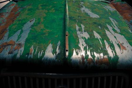 Hood of Old Car