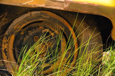 tyre tread: Old tire Stock Photo
