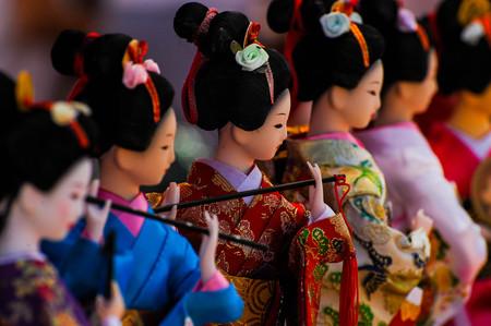 Row of Geishas