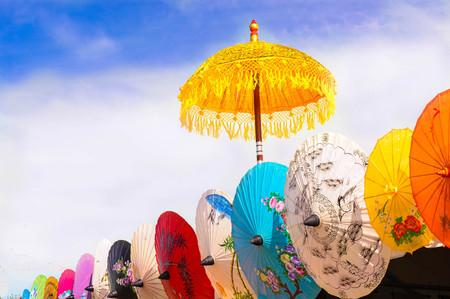 parasols: Series of Parasols Stock Photo