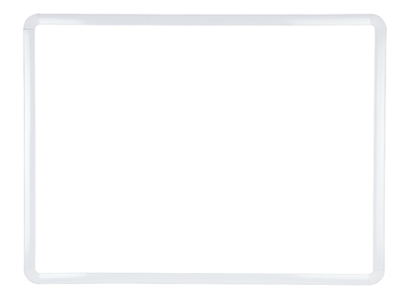 White Dry Erase Board with Separate Clipping Paths