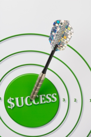 Target with Success printed in the Bulls Eye