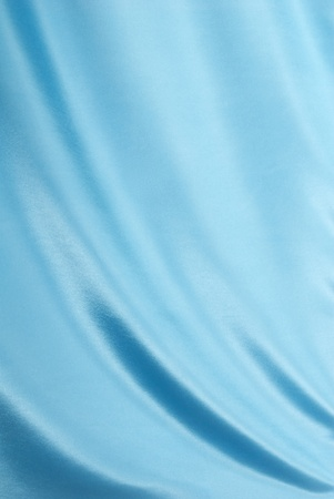 Light Blue Satin Fabric Draped for a Background