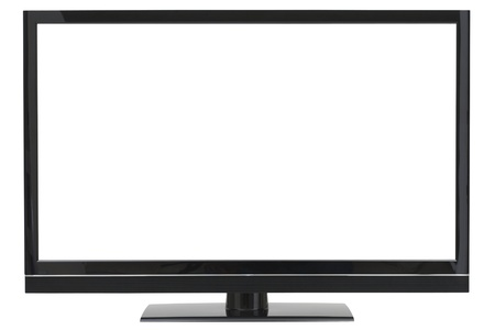 Widescreen LCD TV with Separate Clipping Paths for the Background and the Screen