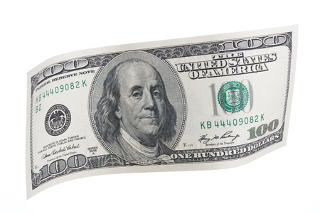 Wavy One Hundred Dollar Bill  Stock Photo - 21266457