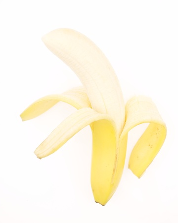 Peeled Yellow Banana with a Vertical Orientation Stock Photo - 21266485