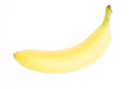 Ripe Yellow Banana on White Background Stock Photo - 21266488