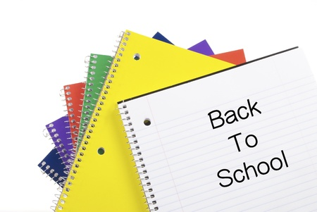 Colorful Spiral Notebooks with Back To School