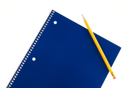 Blue Spiral Notebook and Pencil with Room For Copy
