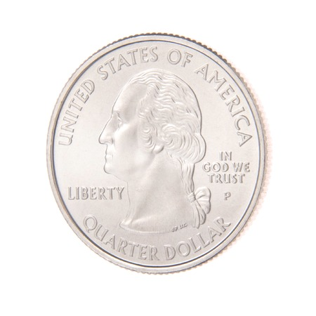 Obverse of a US Twenty-Five Cent Coin photo