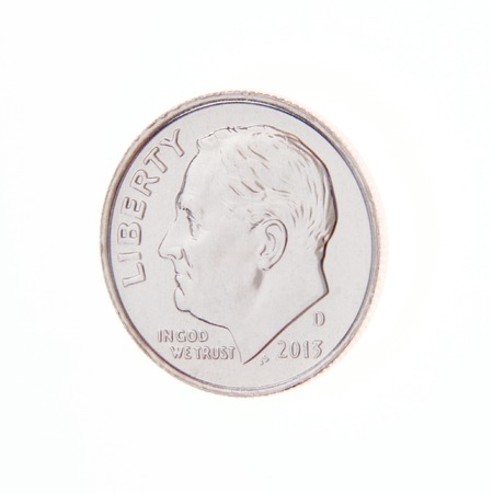 Obverse of a US Ten Cent Coin
