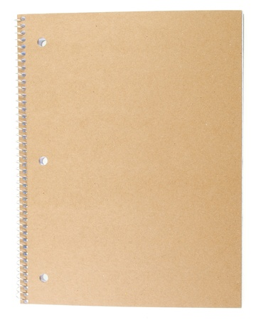 The Back Cardboard Cover of a Spiral Notebook