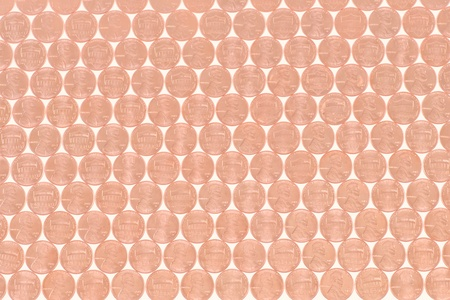 Lincoln Penny Heads and Tails as a Background or Wallpaper