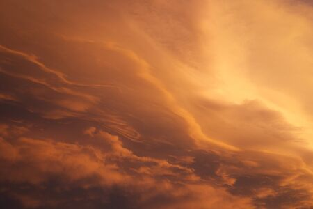 Orange Hue Cloudscape near Sunset
