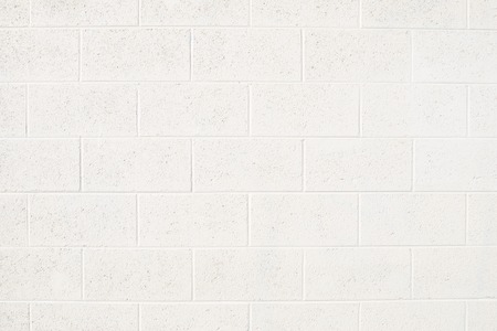 Cinderblock Wall Painted Off White Stockfoto