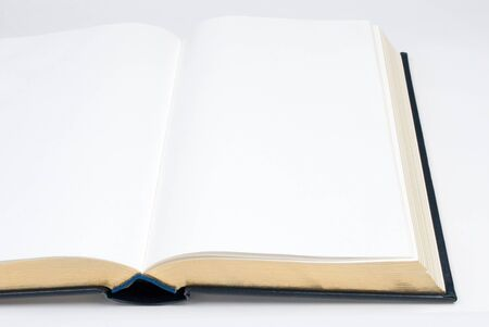 Open Hardcover Book with Gold Edge Pages
