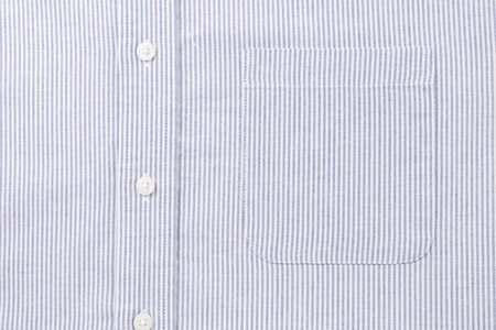Close Up of the Pocket and Buttons on a Mens Shirt