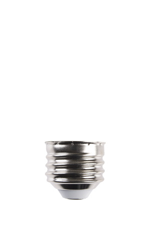 Light Bulb Screw Type Base with Background Clipping Path Stock Photo