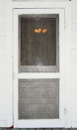 old screen door , entrance to home