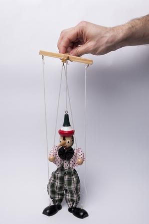 Man who puлls the strings Foto de archivo